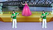 中国含小北创意广场舞《鸭绿江之夜》原创编舞