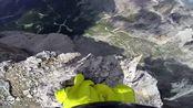 极限挑战者从高山跳下,进行翼装飞行