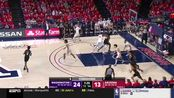 华盛顿Jaden McDaniels对阵亚利桑那20分6篮板