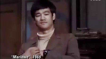 """李小龙历史镜头剪辑小结——三跳踢、速踹、快腿、""""发疯""""与嚎叫、NG镜头!!!.flv"""