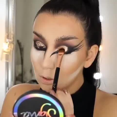 妖媚动物妆视频教程