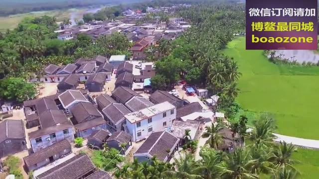 家在万泉河边,航拍琼海市美丽村庄美景