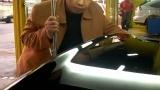 2006年大连刘师傅为奔驰做免喷漆汽车凹陷修复