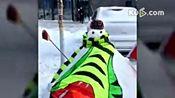 哈尔滨今天下雪了,大家堆雪人了