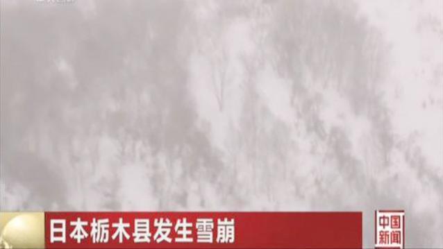 日本栃木县发生雪崩