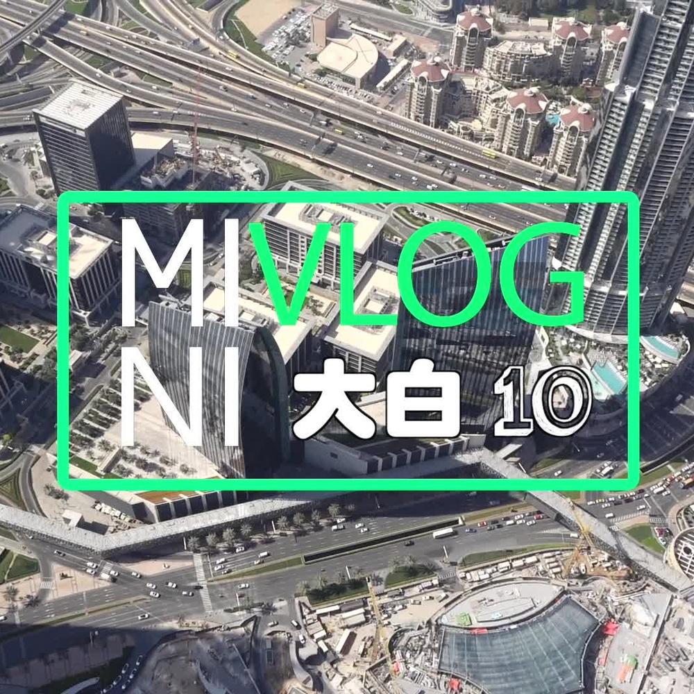【大白 迷你Vlog】在迪拜最高塔上看音乐喷泉 010