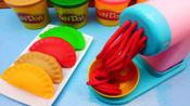 儿童玩具面条机, 还要制作彩泥水饺