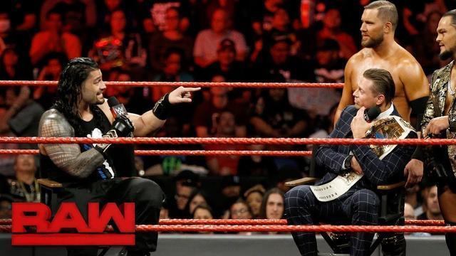 RAW 09/25:罗门吐槽米兹每次赢都是靠两个跟班 当场约架今晚就打