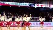 魔性音乐在CBA赛场响起 啦啦队员现场跳起《seve》秀舞步