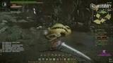[玩家]怪物猎人OL挑战难度沙狸兽太刀7分53秒