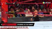 WWE美式摔跤娱乐 RAW 7.17 人间怪兽出其不意复仇罗门-伦斯