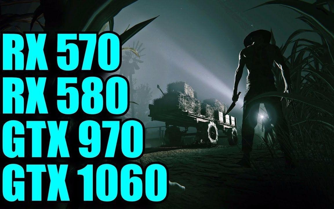 逃生2 正式版 PC性能测试 GTX 1060 970 VS RX580 570 1080P视频
