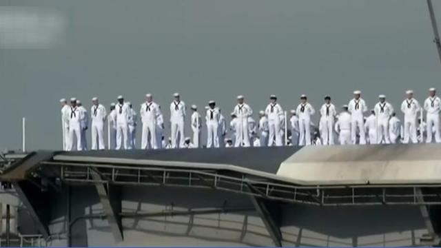 """""""卡尔·文森""""号航母抵达朝鲜半岛东南海域 美三航母将会师"""