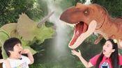 357 侏罗纪世界2超大霸王龙恐龙拆箱 三角龙展示