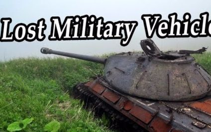 被遗忘的生锈坦克