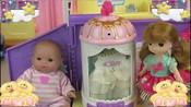 玩具过家家!洋娃娃开汽车与折叠化妆箱