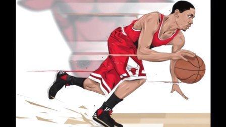 91篮球教学 63 罗斯上篮完成动作 finish