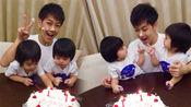 超温馨的一家!林志颖为双胞胎儿子庆生 父子上演蛋糕大战