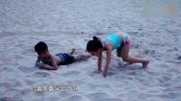 小亮仔教混血女孩螃蟹泳,姿势萌翻了 171008 不可思议的妈妈