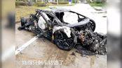 悲剧了:600多万兰博基尼烧成废铁 男子:车子是借来的
