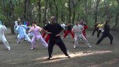合发太极缘师生共同晨练陈氏传统太极拳83式