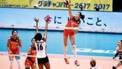 【大冠军杯开门红!中国女排3-1美国】中国女排以-/25-17,总比分3-1逆转战胜美国女排,获得本届赛事的开门红!
