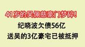 41岁的吴佩慈豪门梦碎,纪晓波欠债56亿!