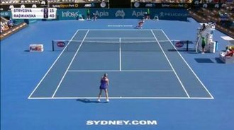WTA悉尼站半决赛HL:拉德万斯卡VS斯特里索娃