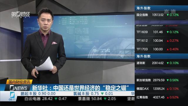 """新华社:中国还是世界经济的""""稳定之锚"""""""