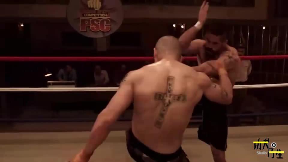 拳击比赛:终极斗士斯科特阿金斯高难度腿法合集