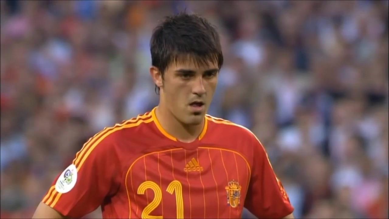 (转自)西班牙神锋大卫·比利亚世界杯的9个进球