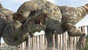 恐怖恐龙袭击2 恐龙怒扑汽车 侏罗纪世界深山恐龙枪战