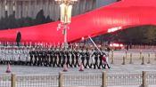 2019年10月8号下午5点46分天安门广场降旗仪式太震撼了