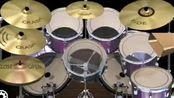 伍佰《突然的自我》架子鼓伴奏(手机APP:Simple Drum Rock)