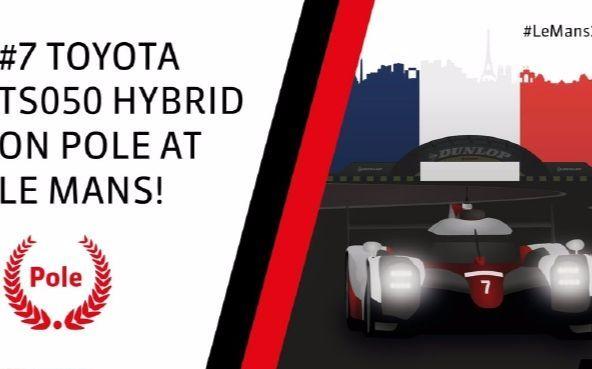 创造历史!小林可梦伟驾驶7号丰田TS050赛车以3分14秒791刷新勒芒最快圈速记录!