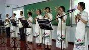 音美教师在教研活动中展示的陶笛合奏《望春风》棒棒哒!