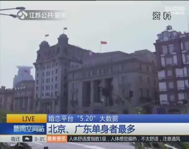 """婚恋平台""""5.20""""大数据 北京、广东单身者最多"""