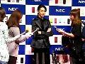 玉木宏NECカシオモバイルコミュニケーションズ「携帯電話 2010年夏モデル」新CM発表会