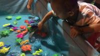 广场游乐园亲子游戏活动 萌娃钓鱼捞鱼游戏 捕鱼达人 玩具总动员 北美玩具