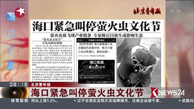 北京青年报:海口紧急叫停萤火虫文化节