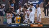 NCAA疯狂三月半决赛,弗吉尼亚大学绝杀奥本大学生死5分钟集锦