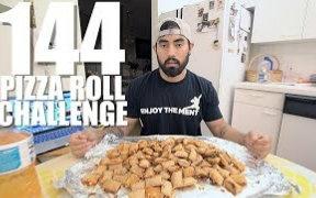 【肌肉男】Nathan挑战144个烤披萨卷