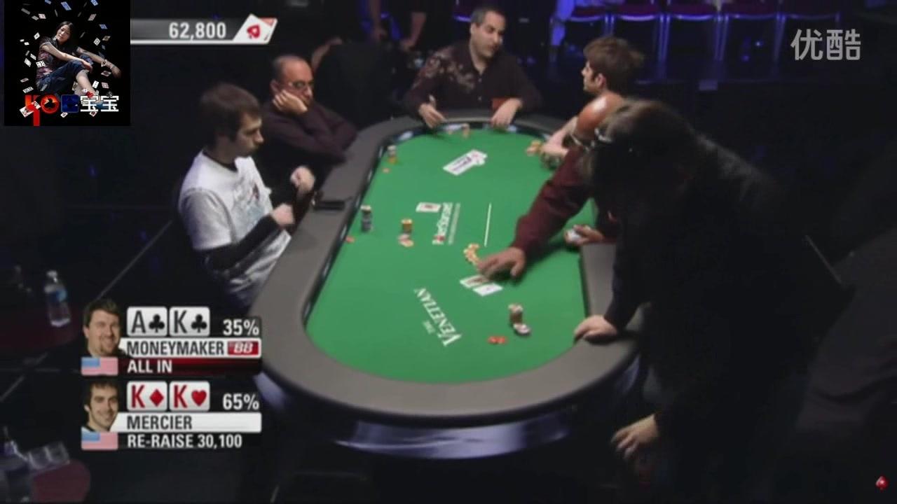 德州扑克三大BB TOP3:KK花式被AK bad beats