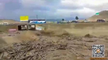 秘鲁连场暴雨洪水肆虐 妇女遭洪水冲走死里逃生