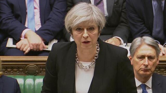 视频 英国首相特蕾莎·梅在议会就恐袭发表讲话