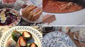 企鹅VLOG#6 还有什么比下雪天窝在家里吃火锅更舒服呢?|治愈系|日常做饭|下午茶|拆快递|火锅|下雪|西多士|厨具分享|草莓大福