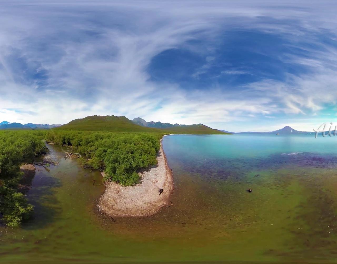 【360°全景】库页湖