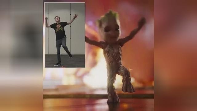 原来《银河护卫队2》格鲁特的舞蹈,都是电脑采集的导演的舞姿
