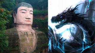 """传说中的乐山大佛""""黑龙吸水""""是否真的存在?又为何记在乐山县志上?"""