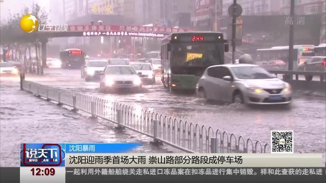沈阳暴雨:沈阳迎雨季首场大雨 崇山路部分路段成停车场